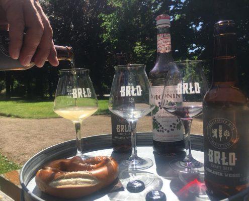 Sommerlust-BRLD Bier und Glaeser